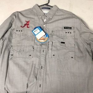 Columbia PFG Houndstooth with A. Size L. NWT.
